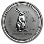 1999 1/2 oz Silver Lunar Year of the Rabbit (Series I)