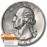 1949 Washington Quarter Roll (40ct) - Brilliant Uncirculated