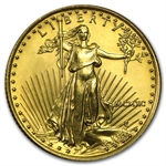 1990 MCMXC 1/4 oz Gold American Eagle Brilliant Uncirculated