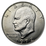 1972-D Eisenhower Dollar - Brilliant Uncirculated - Roll 20 coins