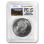 1879-S Brilliant Uncirculated PCGS Stage Coach Silver Dollars