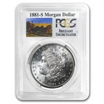 1881-S Brilliant Uncirculated PCGS Stage Coach Silver Dollars