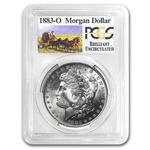 1883-O Brilliant Uncirculated PCGS Stage Coach Silver Dollars