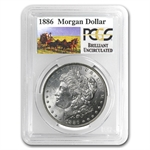 1886 Brilliant Uncirculated PCGS Stage Coach Silver Dollars
