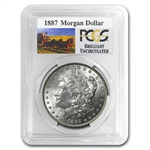 1887 Brilliant Uncirculated PCGS Stage Coach Silver Dollars