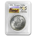 1896 Brilliant Uncirculated PCGS Stage Coach Silver Dollars