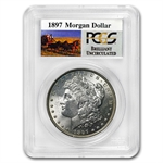 1897 Brilliant Uncirculated PCGS Stage Coach Silver Dollars