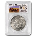 1899-O Brilliant Uncirculated PCGS Stage Coach Silver Dollars