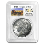1921 Brilliant Uncirculated PCGS Stage Coach Silver Dollars