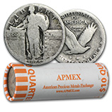 Standing Liberty Quarters (1916 - 1930)  (Silver Coins, Rolls & Bags)