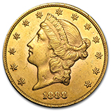 $20 Gold Double Eagles (Liberty Coins 1850 - 1907)