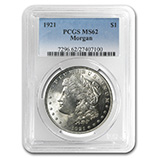 Morgan Dollars (1921) (PCGS Certified)