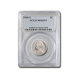 Jefferson Nickels (1938 - Date) (Certified)