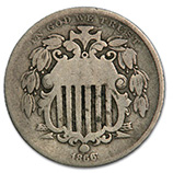 Shield Nickels (1866 - 1883)