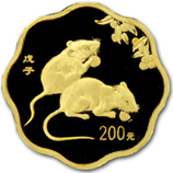 China Gold Flower Coins