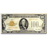 $10 - $100 Gold Certificates (1928)