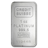 Credit Suisse (Platinum Bars & Rounds)