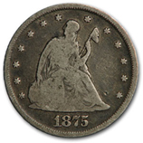 Twenty Cent Pieces (1875 - 1878)
