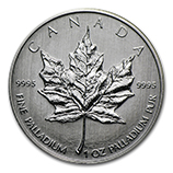 1 oz Palladium Maple Leafs