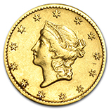 $1.00 US Gold (Type 1, 2 & 3) (1849 - 1889)