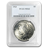 Peace Dollars (1921 - 1935) (PCGS Certified)