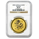 Perth Mint Gold (2000 Dragon Coins) (NGC Certified)