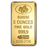 5 oz (Gold Bars & Rounds)