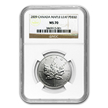 1 oz Palladium Maple Leafs (NGC Certified)