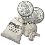 90% Silver Coins, Rolls & Bags (1921 Morgan Silver Dollars)
