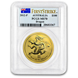 Perth Mint Gold (2012 Dragon Coins) (PCGS Certified)