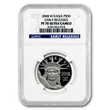 1/2 oz Proof Platinum Eagles (NGC Certified)