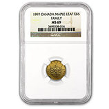 1/10 oz Gold Maple Leafs (NGC Certified)
