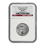 1/2 oz Platinum Eagles (NGC Certified)