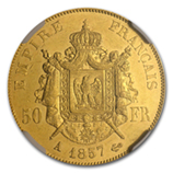 50 Franc French Gold Coins