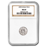 1/10 oz Platinum Eagles (NGC Certified)