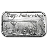 Happy Father's Day (Silver Bars & Rounds)