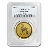 Perth Mint Gold (2003 Ram Coins) (PCGS Certified)