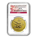 Perth Mint Gold (2012 Dragon Coins) (NGC Certified)