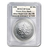RCM Silver Maple Leafs w/Privy Marks (PCGS Certified)