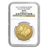 Perth Mint Gold (2011 Rabbit Coins) (NGC Certified)