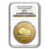 Perth Mint Gold (2008 Mouse Coins) (NGC Certified)