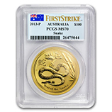 Perth Mint Gold (2013 Snake Coins) (PCGS Certified)