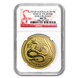 Perth Mint Gold (2013 Snake Coins) (NGC Certified)