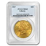 PCGS $20 Double Eagles (Liberty 1850-1907)