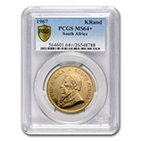1 oz Gold Krugerrands (PCGS Certified)