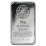 2.5 Gram (Platinum Bars & Rounds)