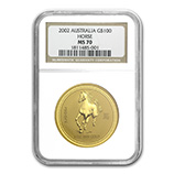 Perth Mint Gold (2002 Horse Coins) (NGC Certified)