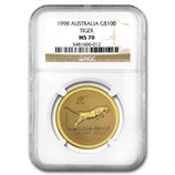 Perth Mint Gold (1998 Tiger Coins) (NGC Certified)