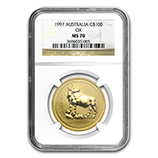 Perth Mint Gold (1997 Ox Coins) (NGC Certified)