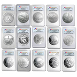 ATB 5 oz Silver Coins (Burnished Sets)